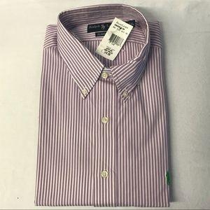 """Ralph Lauren NWT 17.5""""/XL Lavender &White Shirt"""